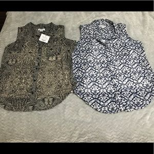 2for1 Liz Claiborne sleeveless tops